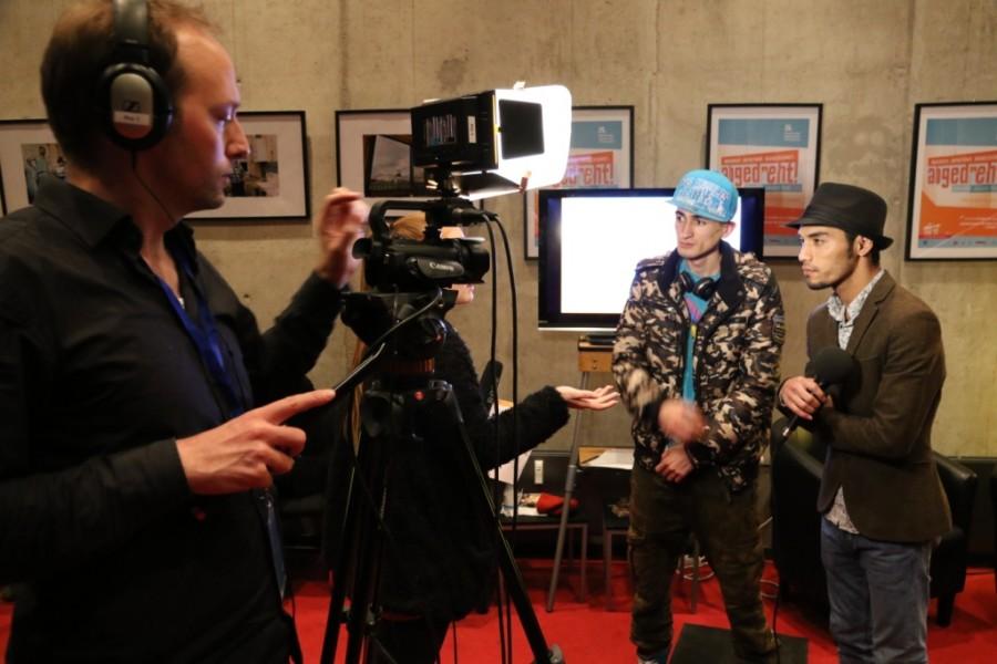 Videointerview mit Filmemachern beim abgedreht Nachwuchs Filmfestival 2014