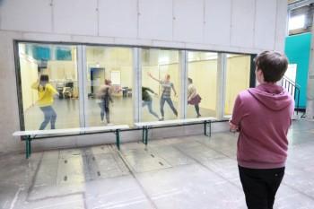 Proben für ein Tanzprojekt auf Kampnagel