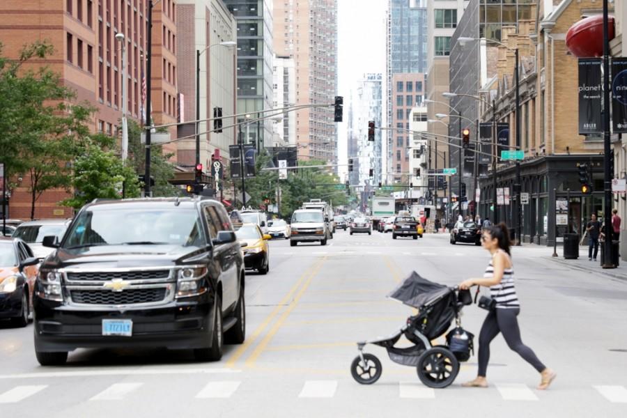 Straßenschlucht in Chicago