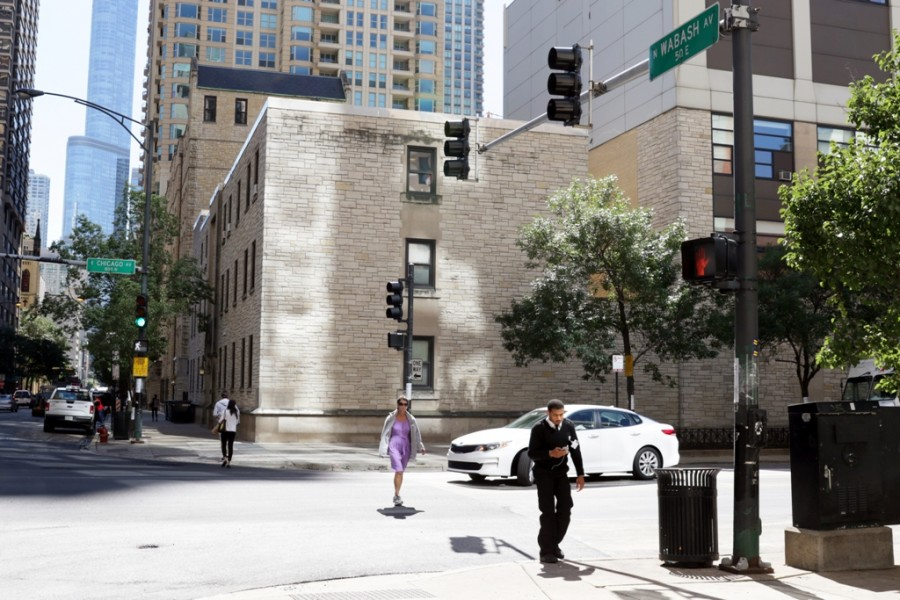 Straßenkreuzung in Chicago