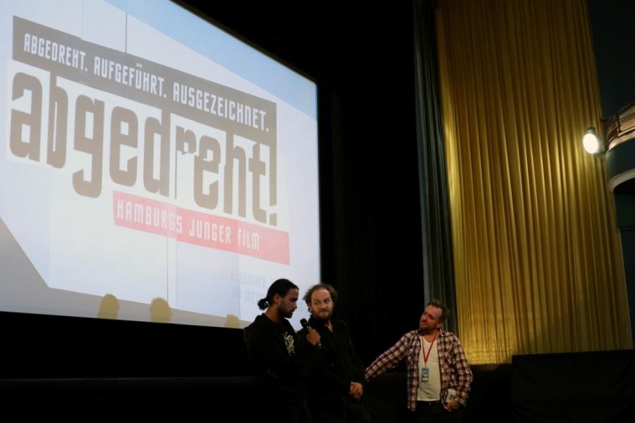 Filmemacher auf der Bühne beim Filmfestival abgedreht in Hamburg