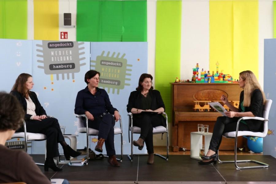 Diskussionrunde angedockt: Medienbildung Hamburg in der Kita Christianskirche Hamburg